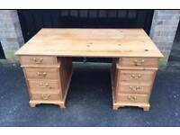 Solid pine desk (delivery available)