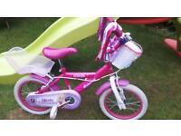 "Girls 14"" princess bike"