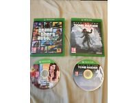 ** MINT CONDITION** GTA 5 & Rise of the Tomb Raider - Xbox One