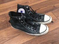 Converse All Star black/metallic: adult size 6