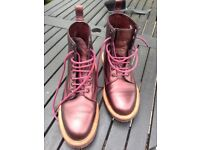 Dr Martens Leather Boots Ladies Size 8