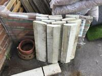 Reclaimed saddle back coping stones 12 in total