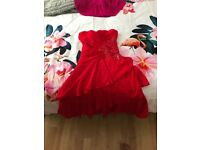 Jane norman red rose dress size 8