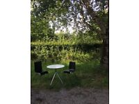 Modern John Lewis small table set with 2 chairs and 2 stools