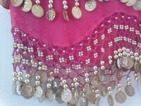 Raspberry pink belly dancing sash