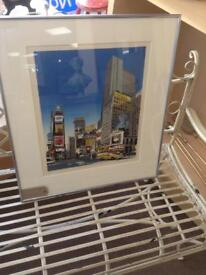 A fine art LINOCUT of Times Square New York by Kevin Holdaway.