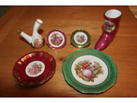 BEAUTIFUL LIMOGE BONE CHINA INDIVIDUAL COLLECTIBLE PIECES