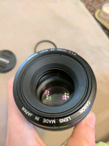 Canon 50mm 1.4 lens mint condition