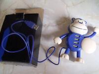 monkey shape usb hub (4 ports)blue