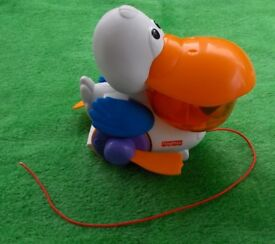 Fisher Price Pull and Pop Pelican