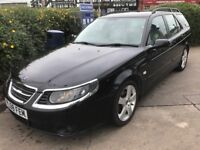 LOW MILEAGE,HPI CLEAR,AUTOMATIC DIESEL 2008 SAAB 9-5 1.9 TID,100000 MILES,FULL LEATHER INTERIOR
