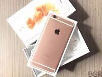 apple iphone 6s rose gold Good condition warranty and shop reciept