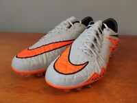 Mens football boots, Nike Hypervenom Phinnish AG (Wolf Grey/Total Orange) Size 9.5.