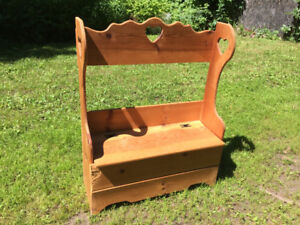SOLID PINE DEACON'S BENCH for sale