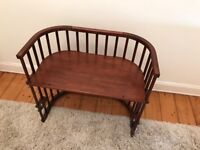 BabyBay Convertible Original Bedside Cot - Mahogany
