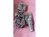3 HANDSET BT CORDLESS PHONES - in working order