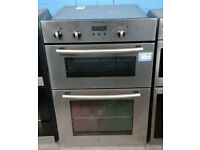 X183 stainless steel electrolux double integrated electric oven comes with warranty