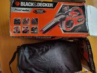 Black and Decker 12v Dustbuster Pivot Auto Vac + Bag + Attachment