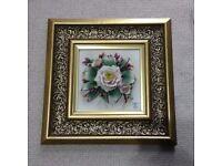 Vintage Capodimonte 3D Floral Picture Frame