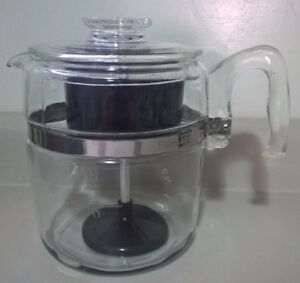 Vintage Pyrex Coffee Percolator – 9 cup glass stovetop 7759