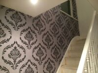 £60 PER FEATURE WALLPAPER FITTING. 24 HOUR CALL OUT SERVICE. FEATURE WALLS. PAINTER AND DECORATOR.
