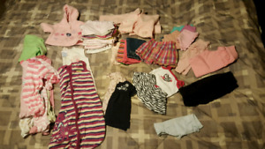 Over 30 baby clothing items.  3 month-9month sizes