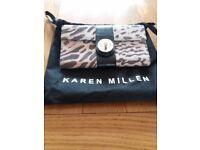 Karen Millen Suede & Leather Purse