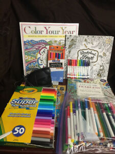 Lots of Adult Colouring Materials