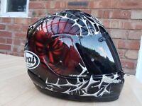 """***Arai VIPER-GT """"Sinister"""" w/pinlock Motorbike Helmet***"""