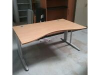 Dark oak Concave desk