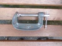 "4 off Non-Branded ""G"" Clamps, Size 2 inch."