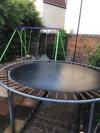 Medium sized 8 ft trampoline