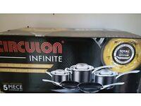 Circulon Infinite 5 pan set brand new in box