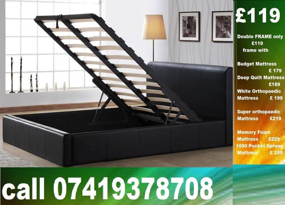 "Special Offer DOUBLE storage leeatheer single King size availableBeddingin Leyton, LondonGumtree - Please click ""See all ads"" at the top to see more Beds and other furniture in our store"
