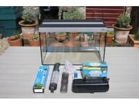 Hugo Kamishi 60L Fish Tank, Lights, Filter, Heater and other accessories