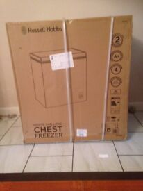 Small Chest Freezer, Brand new ,unused. Never unpacked but not required due to bereavment