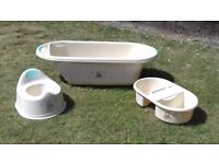 Baby bath, top n tail bowl and potty