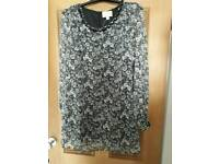 Floral Shift Dress Size 8