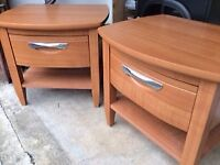 Bedside tables as new. Buyer collects Smoke free, pet free home.