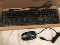 Brand New Acer Keyboard and Mouse Set - USB Connection for PC, Laptop, CCTV