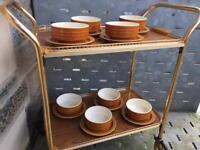 Hornsea 'saffron' 8 bowls & 8 serving plates
