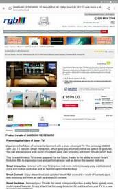 Samsung 55 inch smart 3d tv cost 1699 slight fault
