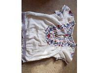 New look size 12 top with embroidered pattern