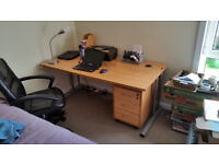 Large office style desk with drawers