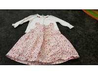 Baby girl dress and cardigan