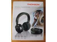 Thompson Wireless Headphones: Brand New In Box; 100m range; Autotuning; LED display