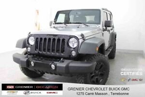 2016 Jeep Wrangler Unlimited Sport TRAIL RATED 4X4 *GPS + ÉCRAN