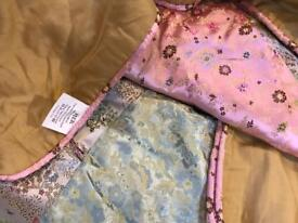 Gorgeous patchwork silk quilt by Pier