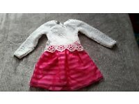 Girls long sleeve lace dress 5-6y