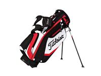 Titleist Stand Bag AS NEW USED ONCE Mint Condition with Matching Titleist Double Canopy Brolley